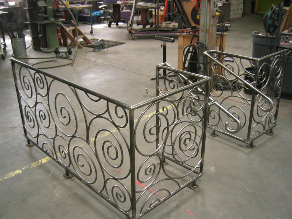 Spiral Metal Exterior Railing